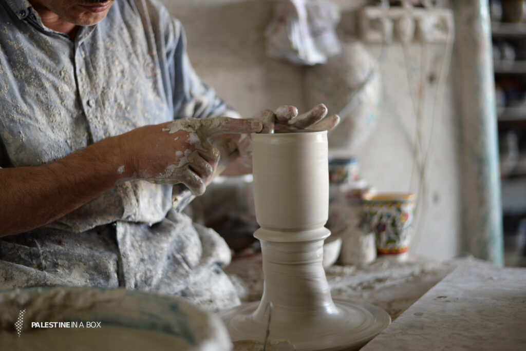 Like traditional pottery making, the object or trinket is first birthed on the pottery wheel using clay.